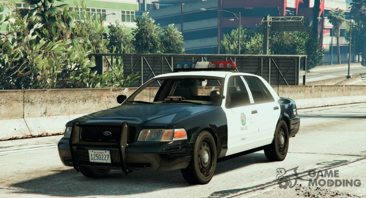 Crown Victoria Police with Default Lightbars для GTA 5
