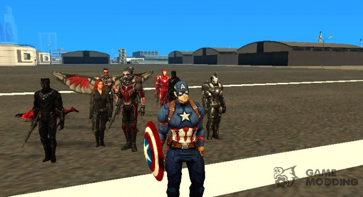 The first Avenger standoff for GTA San Andreas
