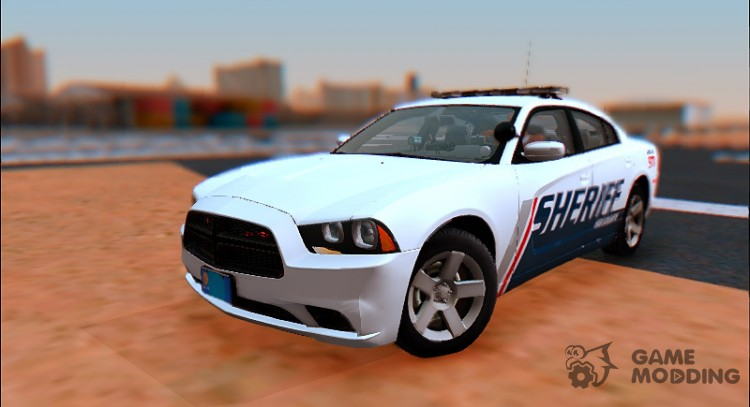 2013 Dodge Charger Red County sheriff's office для GTA San Andreas