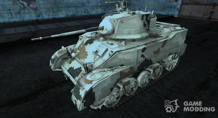 Skin for M5 Stuart for World Of Tanks