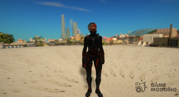 Female nanosuit medic from Warface for GTA San Andreas