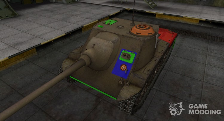 High-quality skin for T25 AT for World Of Tanks