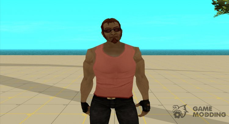 Postal dude in a pink tank top for GTA San Andreas