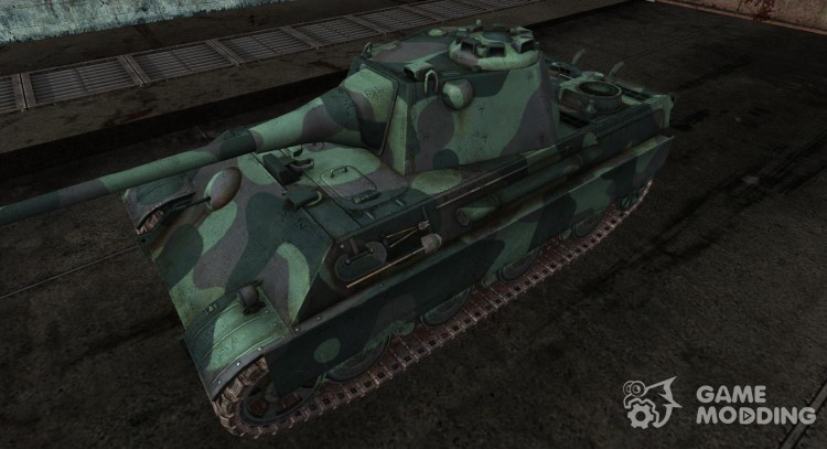 Skin for Panther II norway forest for World Of Tanks