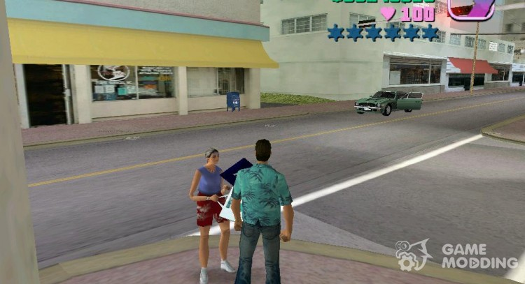 Talk with ped for GTA Vice City
