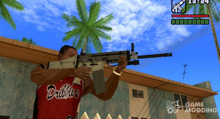 Automatic FN SCAR for GTA San Andreas