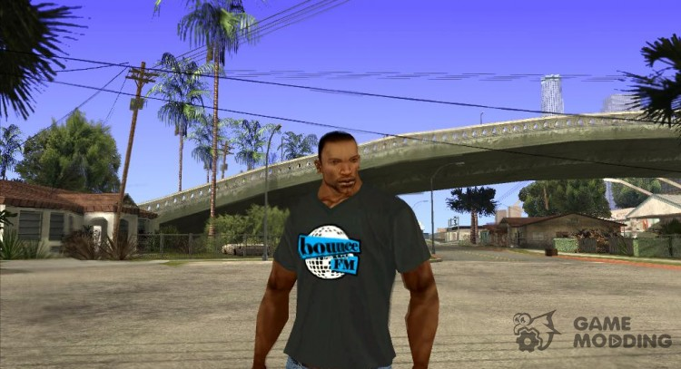 CJ on t-shirt (Bounce FM) for GTA San Andreas