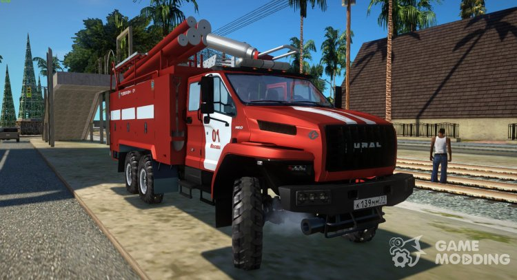 Ural Firetruck Next for GTA San Andreas
