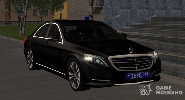 Mercedes-Benz s500 a police officer with the ruble for GTA San Andreas