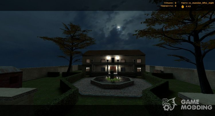 Cs Mansion (night) for Counter-Strike Source