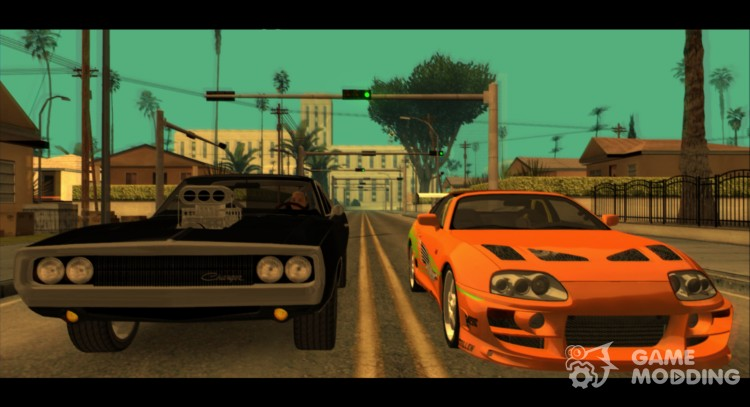 """HD Cars from """"The Fast And The Furious"""" 0.1 для GTA San Andreas"""