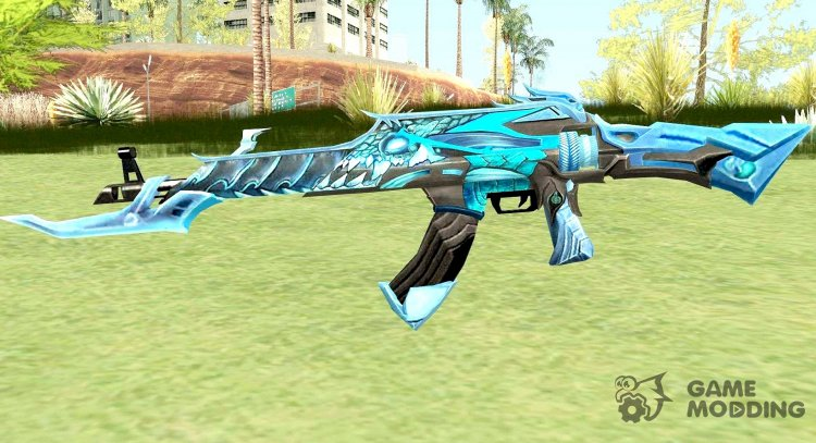 AK-47 (Unicorn Ice) for GTA San Andreas