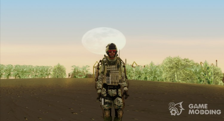 CoD AW US Marine Assault v3 Head C для GTA San Andreas