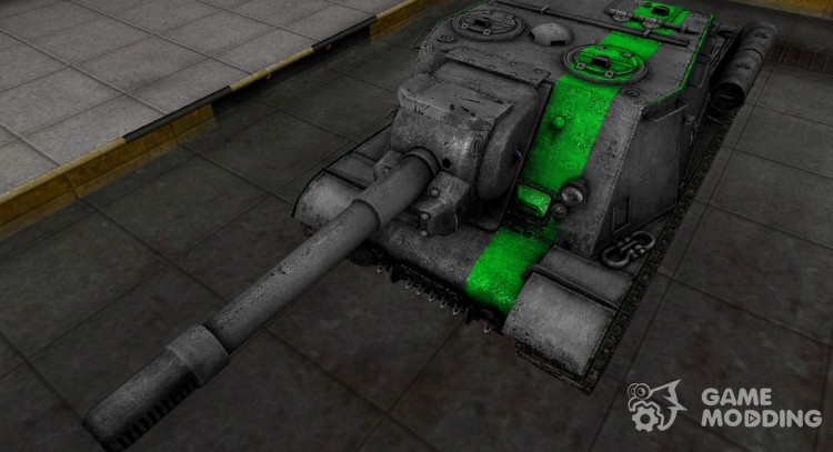 Skin for ISU-152 with a green stripe for World Of Tanks
