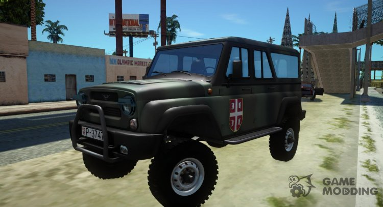 UAZ-3153 Hunter Serbian Troops for GTA San Andreas