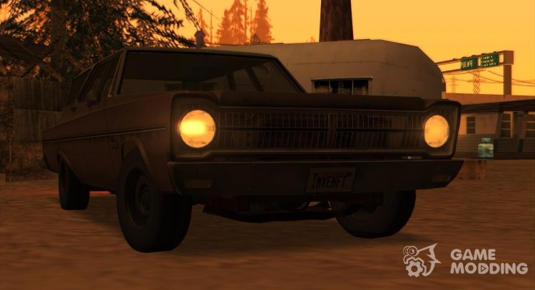 Plymouth Belvedere Station Wagon In 1965 for GTA San Andreas