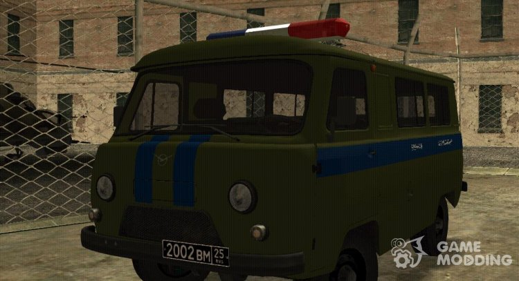 UAZ 3962 MILITARY TRAFFIC POLICE for GTA San Andreas