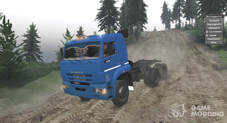 KAMAZ 6522 SV for Spintires 2014
