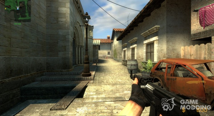 Black AK47 Tactical for Counter-Strike Source