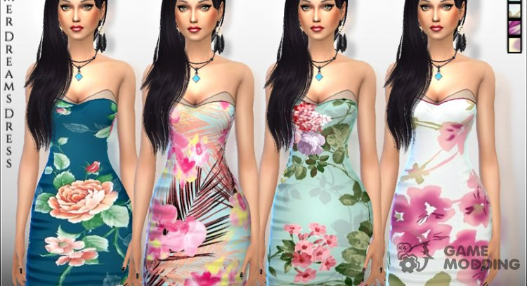 Summer Dreams Dress for Sims 4