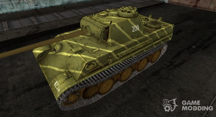 Шкурка для PzKpfw V Panther(Watermelon colour) для World Of Tanks