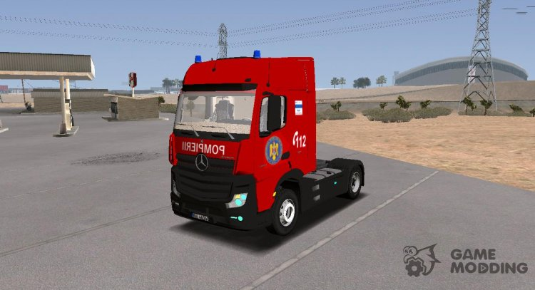 Mercedes-Benz Actros Pompierii for GTA San Andreas