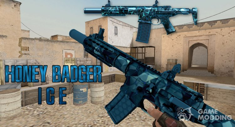 WarFace AAC Honey Badger Frost for Counter Strike 1.6