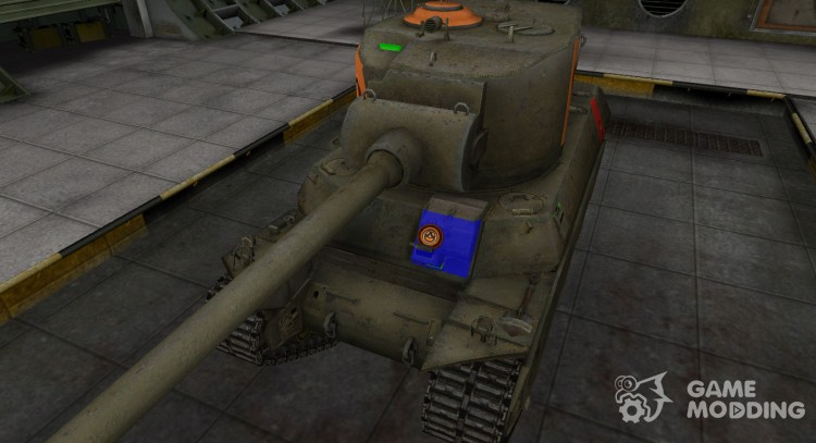 High-quality skin for M6A2E1 for World Of Tanks