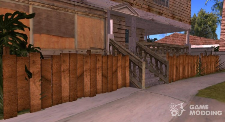 Wooden fences v1.2 HQ for GTA San Andreas