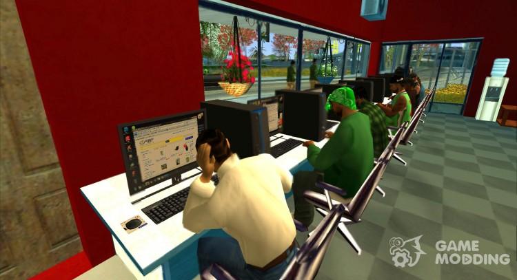 Ganton Cyber Cafe Mod v 1 0 for GTA San Andreas