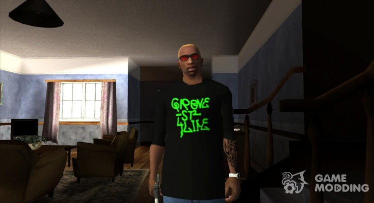 Grove Street T-shirt for GTA San Andreas
