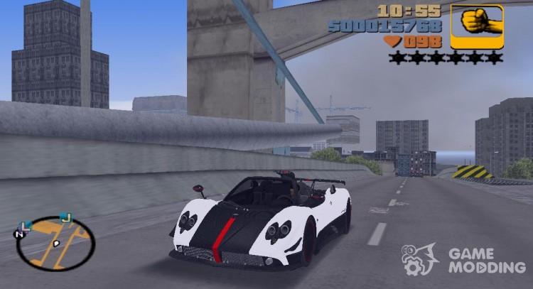 Pagani Zonda Cinque Roadster 2010 For Gta 3