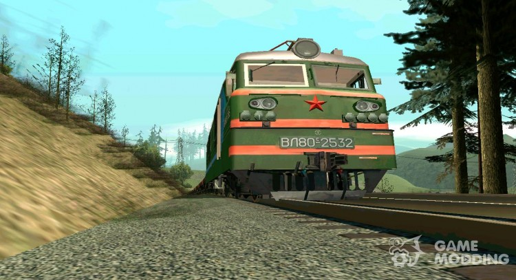 Pack of Russian railway transport by Gmn-Robots for GTA San Andreas