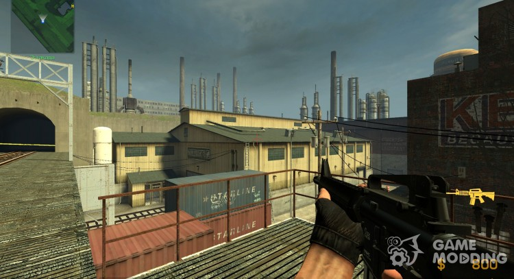 Black Colt M16A4 for Counter-Strike Source