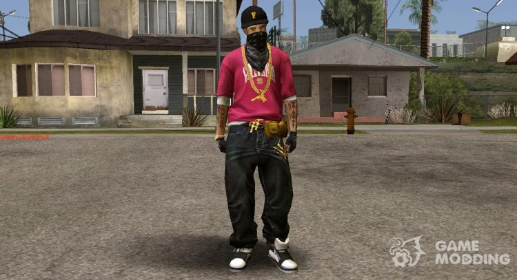 Hip Hop Free Fire Skin for GTA San Andreas