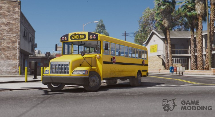 Caisson Elementary C School Bus для GTA 5