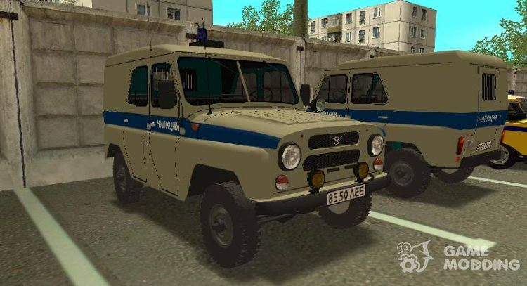 UAZ-469 Militia of Leningrad for GTA San Andreas
