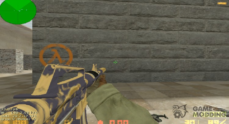 M4a1-S Golden Coil for Counter Strike 1.6