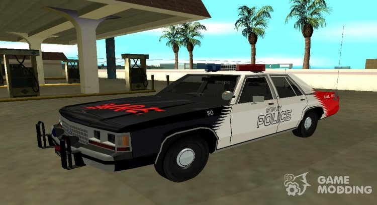 Ford LTD Crown Victoria 1991 Copley Police DARE black, white and red for GTA San Andreas