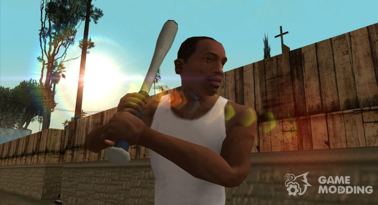 HQ Baseball bat (With Original HD Icon) for GTA San Andreas