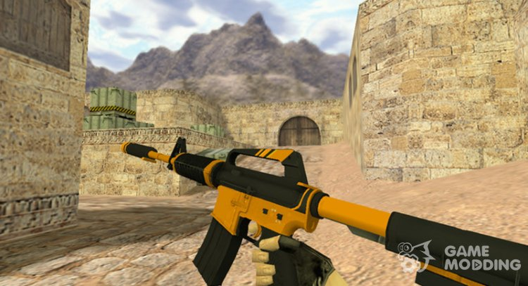 M4A1 Atomic alloy for Counter Strike 1.6