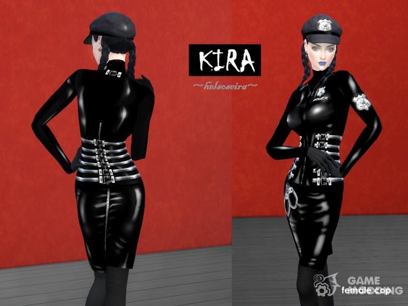 Kira Policewoman Cap For Sims 4