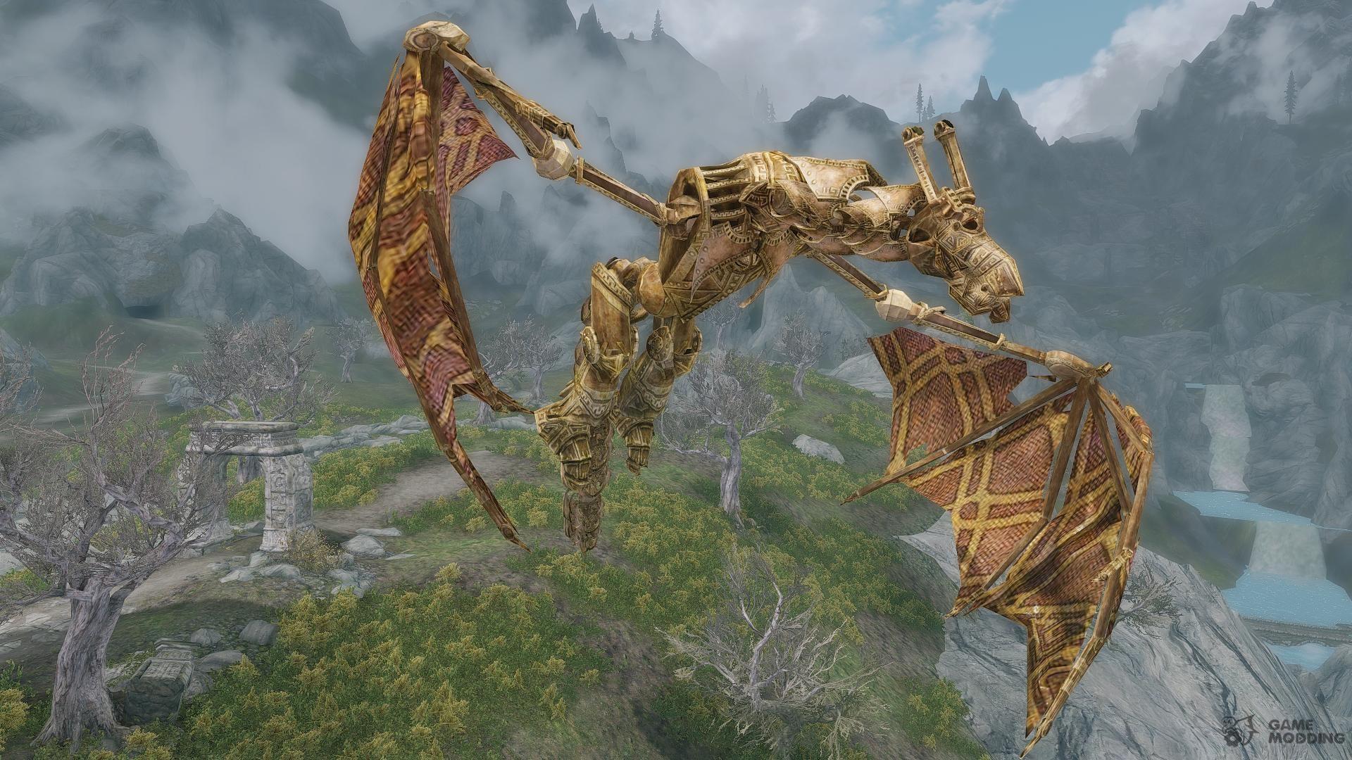 Dwarven Mechanical Dragons - Guardians of Kagrenzel Edition for TES