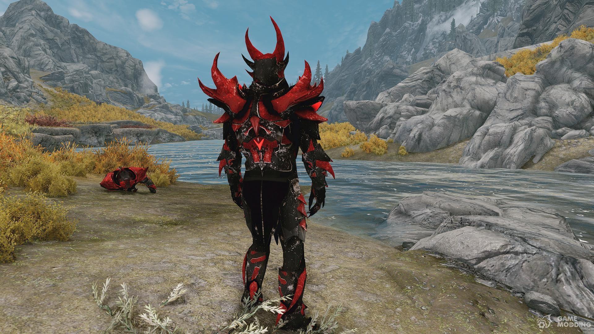 Daedric Space Armor a standalone retexture for TES V: Skyrim