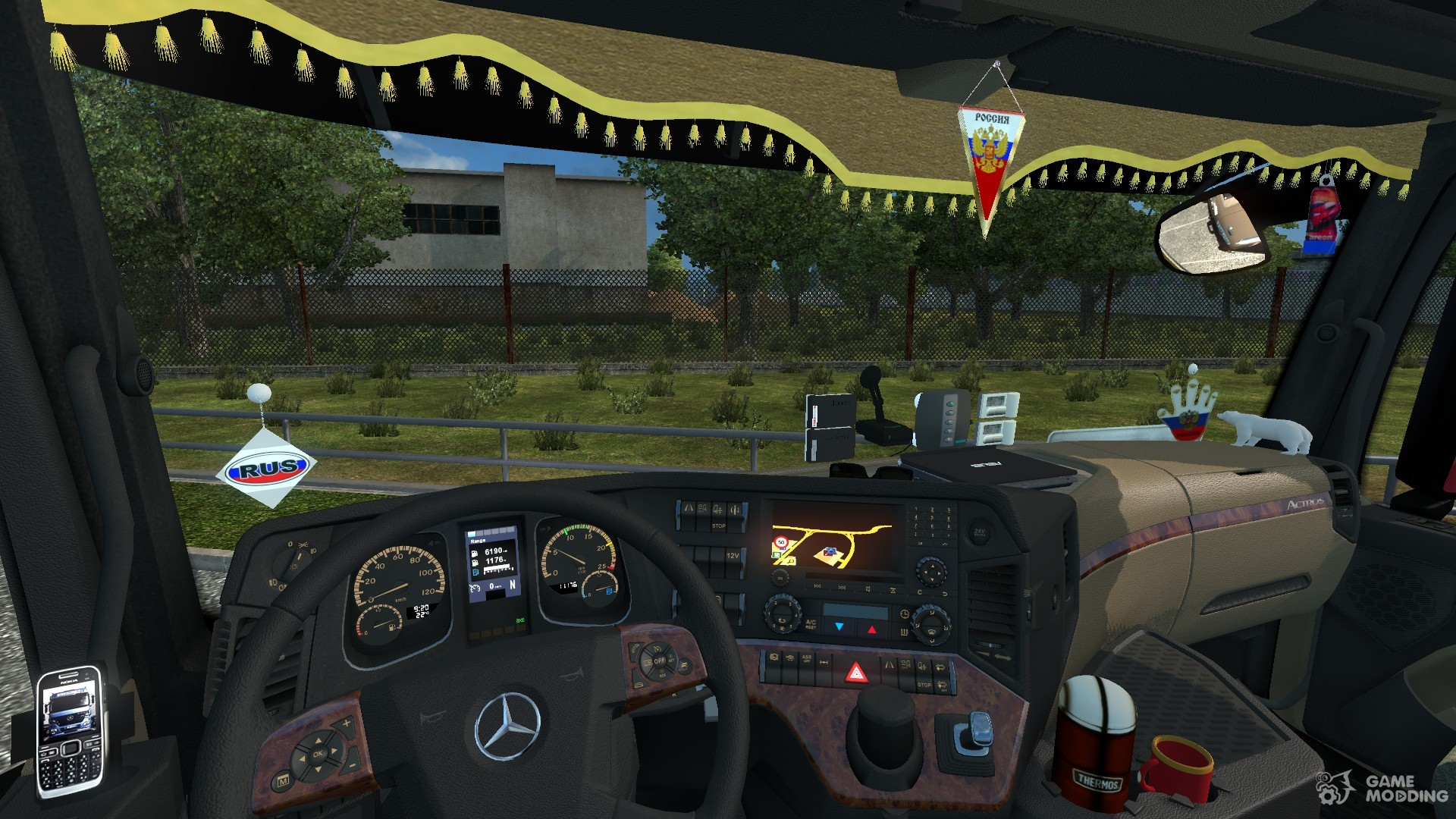 interior for the mercedes benz actroz mp 4 for euro truck. Black Bedroom Furniture Sets. Home Design Ideas