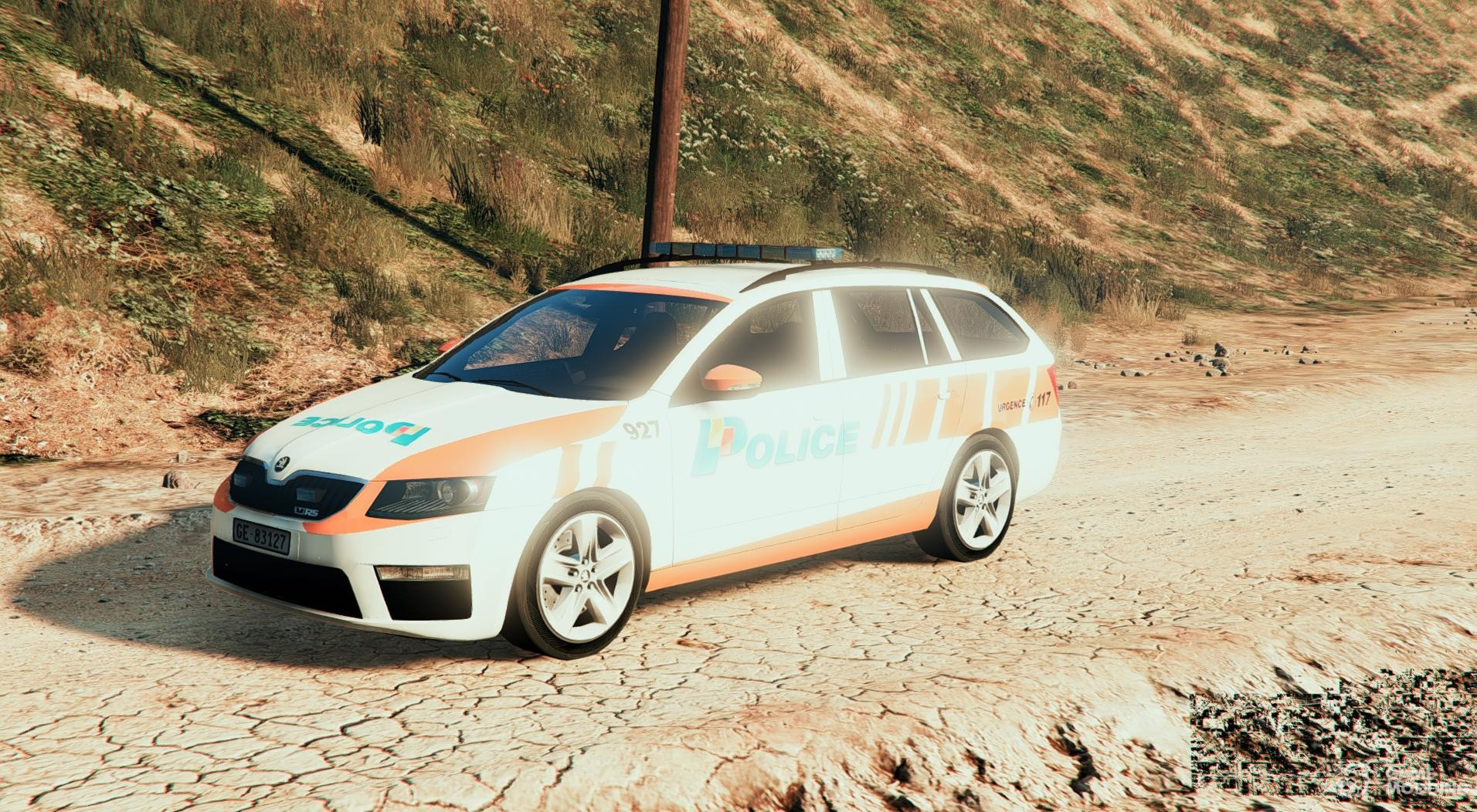 skoda octavia rs swiss ge police for gta 5. Black Bedroom Furniture Sets. Home Design Ideas