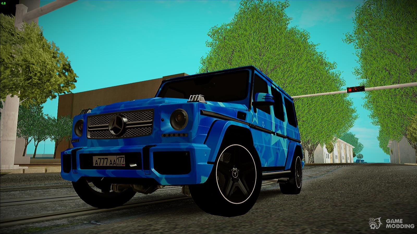 mercedes benz g65 blue star for gta san andreas. Black Bedroom Furniture Sets. Home Design Ideas