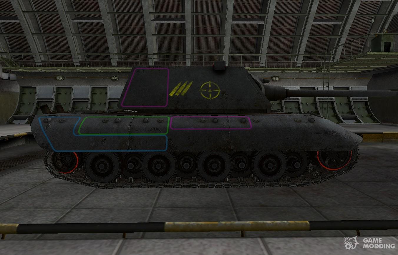 Нижний бронелист танка e100 достаточно большой, что позволяет выцеливать его на средних и даже дальних дистанциях