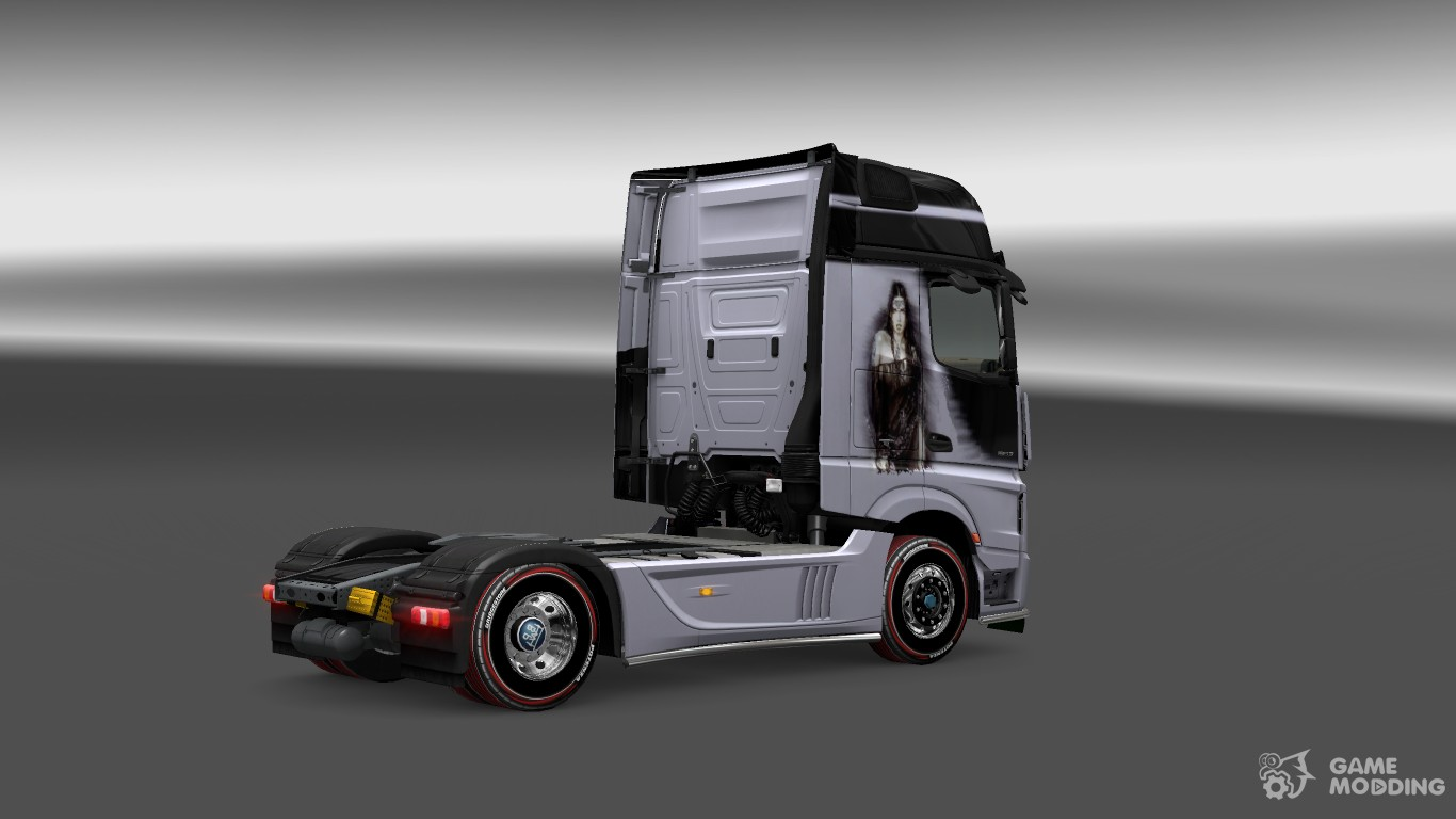mercedes actros mp4 2014 silver lady skin for euro truck. Black Bedroom Furniture Sets. Home Design Ideas