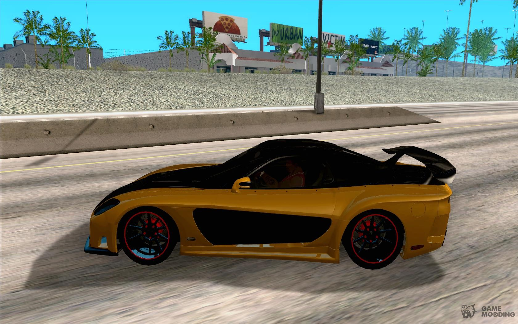 mazda rx7 fast and furious 6. mazda rx7 veilside tokyo drift for gta san andreas left view rx7 fast and furious 6